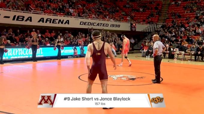 157lbs- Jonce Blaylock, Oklahoma State vs Jake Short, Minnesota