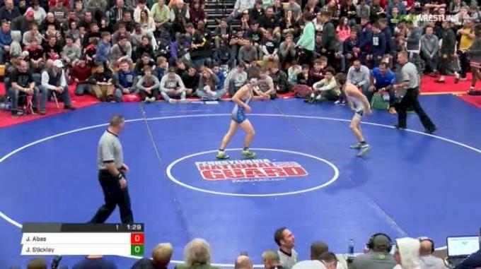138 lbs Final - JD Stickley vs Jaden Abas