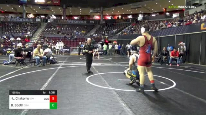195 lbs Round Of 16 - Luke Chakonis, Don Bosco Prep vs Brent Booth, Dow Midland