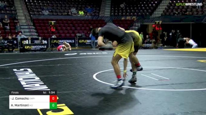 126 lbs Final - Jakob Camacho, Empire Wrestling Academy vs Angelo Martinoni, Mad Dawg Wrestling Club