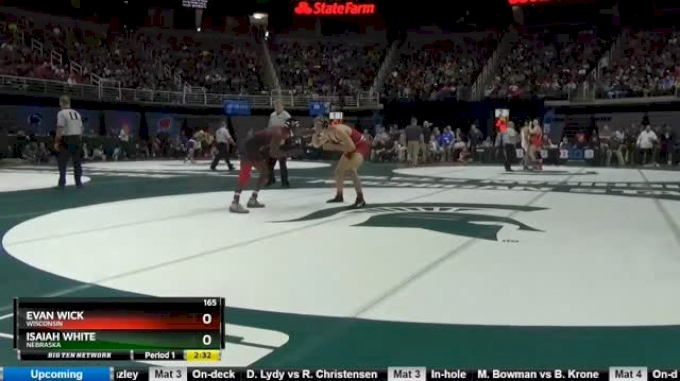 165 lbs Consi of 4 - Evan Wick, Wisconsin vs Isaiah White, Nebraska
