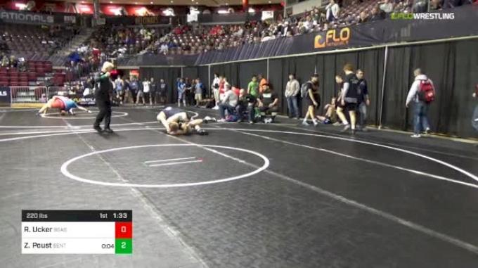 220 lbs Round Of 32 - Zach Poust, Benton vs Riley Ucker, Beast Mode