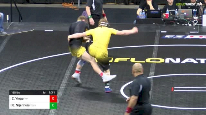 160 lbs Final - Colt Yinger, Nelsonville-York vs Gerrit Nijenhuis, Young Guns Wrestling Club