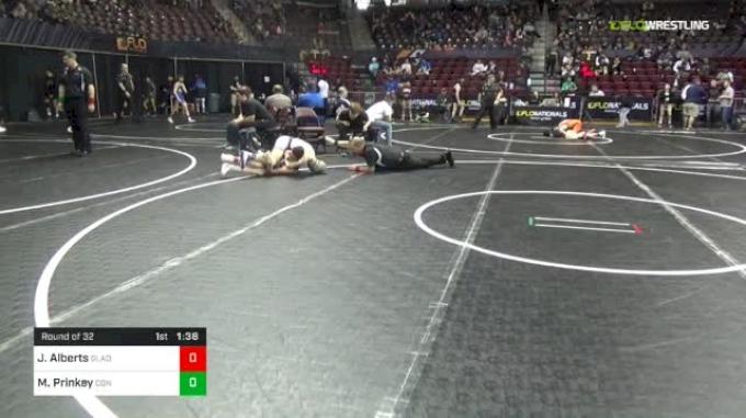 106 lbs Round Of 32 - Jake Alberts, Gladiators vs Mason Prinkey, Connellsville
