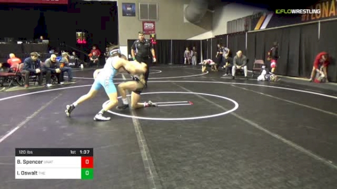 120 lbs Round Of 64 - Brenden Spencer, Unattached vs Ian Oswalt, The Mat Factory / Young Guns