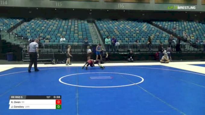 55 lbs Rr rnd 5 - Kaden Owen, Eastside Cougars vs Jordan Conoboy, LWA