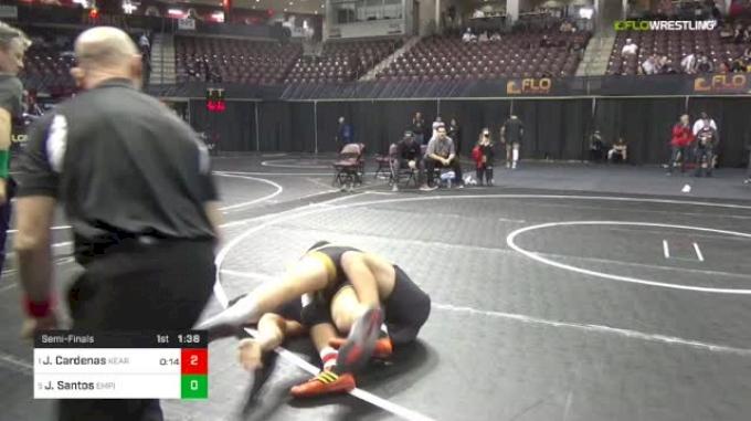 195 lbs Semifinal - Jacob Cardenas, Kearny NJ vs Johnny Santos, Empire Wrestling Academy