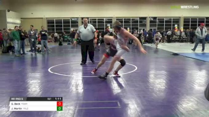 126 lbs Rr rnd 5 - Gavin Beck, Young Guns Power MS vs Jack Martin, Yale Street Wrestling Club MS