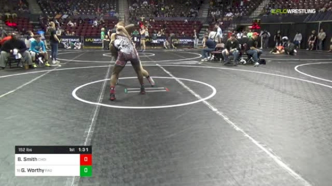 152 lbs Round Of 32 - Beau Smith, Choices vs George Worthy, Paulsboro
