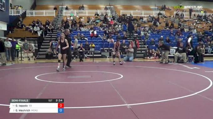 116 lbs Semifinal - Olivia Ioppolo, Southern Oregon vs Gabrielle Weyhrich, McKendree University