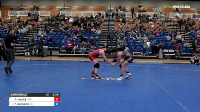 123 lbs Semifinal - Alex Hedrick, Simon Fraser University vs Koral Sugiyama, Campbellsville University W