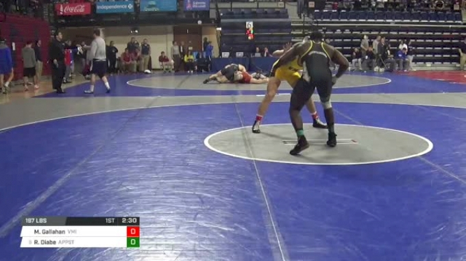 197 lbs Round of 32 - Max Gallahan, Virginia Military Institute vs Randall Diabe, Appalachian State
