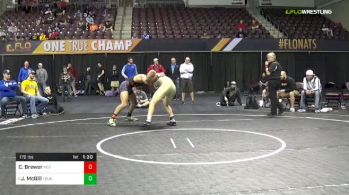 170 lbs Semifinal - Carson Brewer, Red Cobra Wrestling Academy vs Jared McGill, Young Guns Wrestling Club