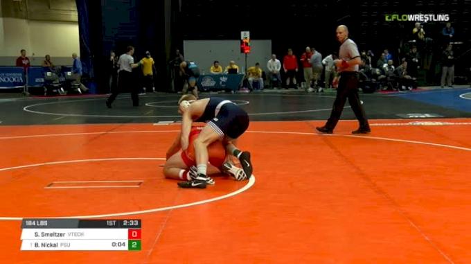 184 lbs Quarterfinal - Stan Smeltzer, Virginia Tech vs Bo Nickal, Penn State