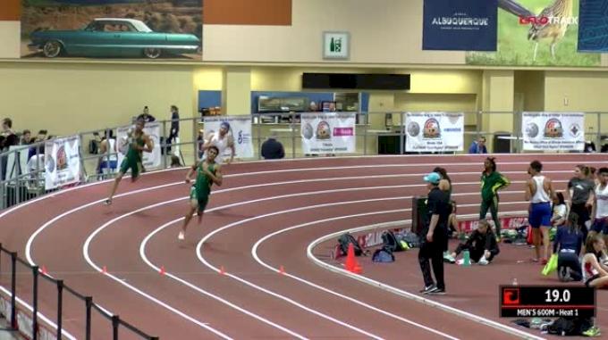 Men's 600m, Heat 1