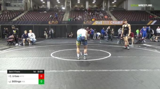 182 lbs Semifinal - Cole Urbas, M2TC vs Josh Stillings, Pennridge