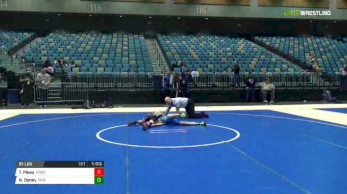 91 lbs Rr rnd 5 - Talon Pleau, Go Get Em Express vs Nathan Doney, Nevada Elite