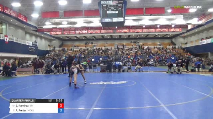 143 lbs Quarterfinal - Sienna Ramirez, Southern Oregon vs Alexis Porter, McKendree University