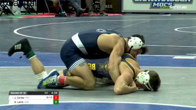 141 lbs Round of 16 - Jered Cortez, Penn State vs Owen Lamb, N. Colorado