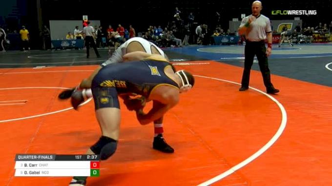 184 lbs Quarterfinal - Bryce Carr, Chattanooga vs Dylan Gabel, N. Colorado