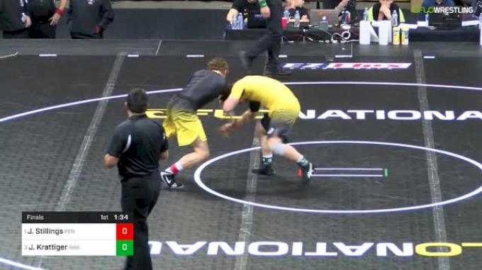 182 lbs Final - Josh Stillings, Pennridge vs Jared Krattiger, Askren Wrestling Academy