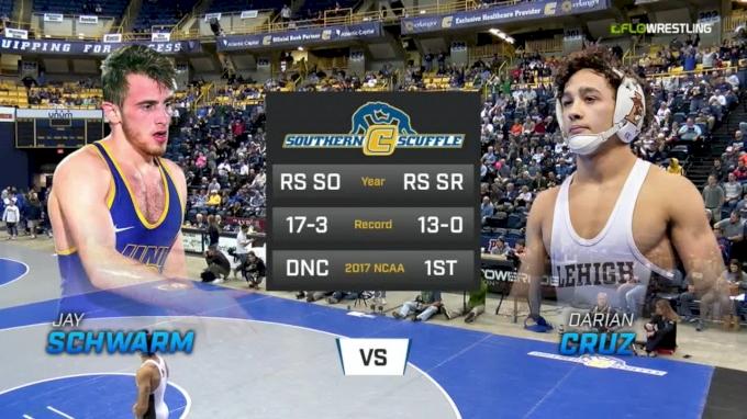125 f, Darian Cruz, Lehigh vs Jay Schwarm, UNI