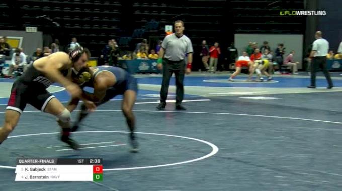 174 lbs Quarterfinal - Keaton Subjeck, Stanford vs Jadaen Bernstein, Navy