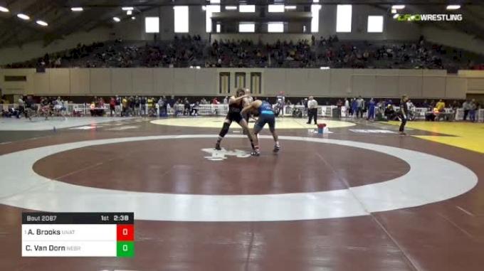 184lbs Quarterfinal: Aaron Brooks, EAP vs Corey Van Dorn, Nebraska-Kearney