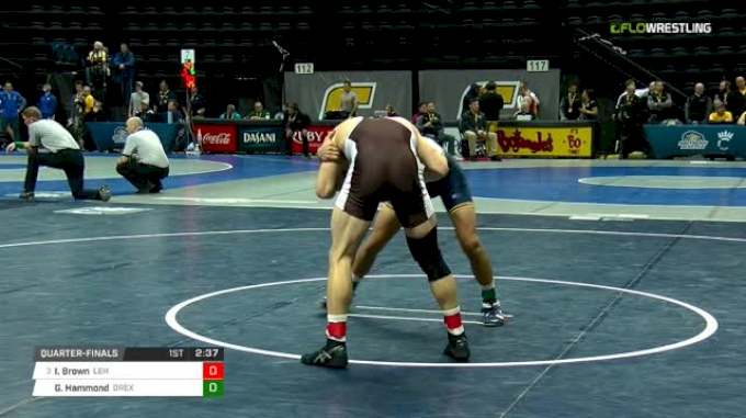 157 lbs Quarterfinal - Ian Brown, Lehigh vs Garrett Hammond, Drexel