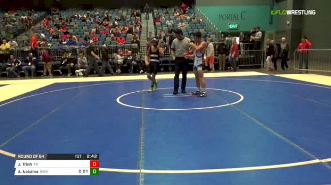 125 lbs Round of 64 - Jeremy Trinh, UN-Fresno State vs Aaron Nakama, Highline