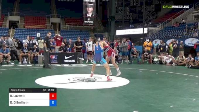 132 lbs Semifinal - Ridge Lovett, Idaho vs Dylan D'Emilio, Ohio