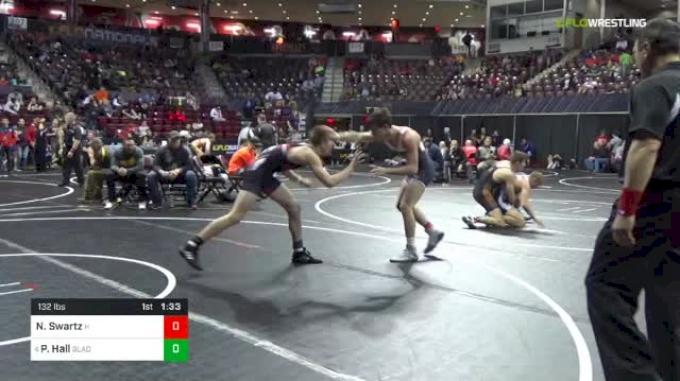 132 lbs Round Of 32 - Nathan Swartz, Hollidaysburg vs Peyton Hall, Gladiators