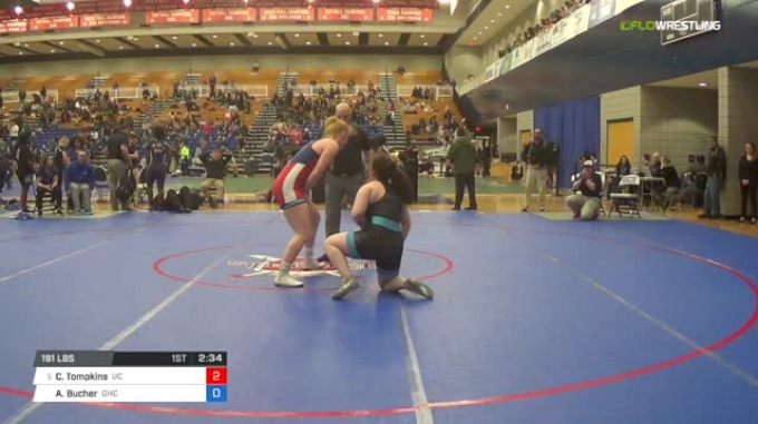 191 lbs Consi of 8 #2 - Courteney Tompkins, University Of The Cumberlands vs Audrey Bucher, Grays Harbor College