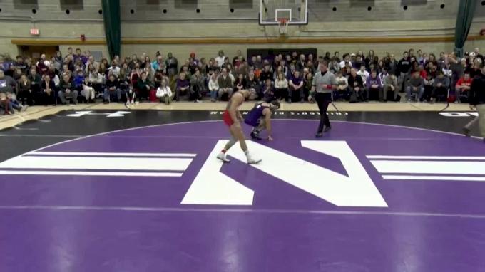 149 lbs, #12 Eleazar DeLuca, Rutgers vs. #9 Ryan Deakin, Northwestern