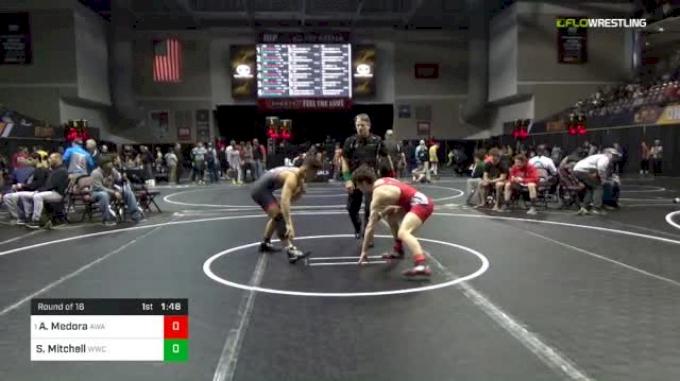 132 lbs Round Of 16 - Aidan Medora, Askren Wrestling Academy vs Steven Mitchell, Wheeling Wresting Cub