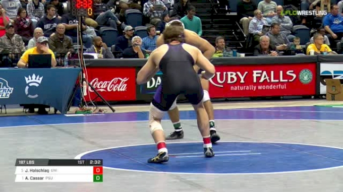 197 lbs Semifinal - Jacob Holschlag, Northern Iowa vs Anthony Cassar, Penn State