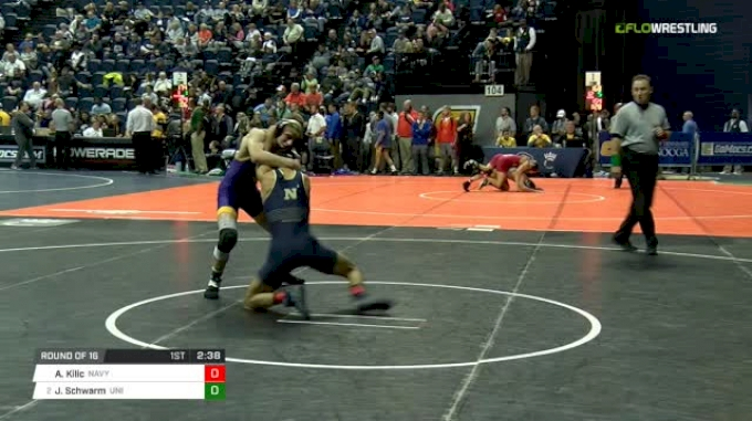 125 lbs Round of 16 - Aslan Kilic, Navy vs Jay Schwarm, Northern Iowa