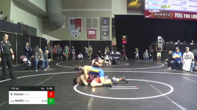 170 lbs Round Of 16 - Brylan Clouse, Unattached vs Jared McGill, Young Guns Wrestling Club