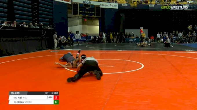 174 lbs Round of 16 - Mark Hall, Penn State vs Hunter Bolen, Virginia Tech