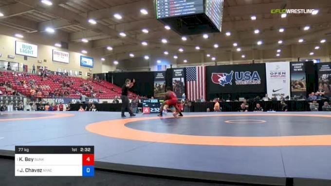 77kg Semis - Kamal Bey, Sunkist Kids vs Jon Jay Chavez, NYAC/FLWC