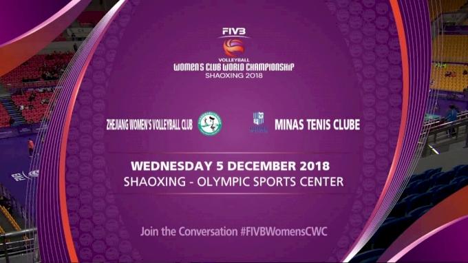 Zhejiang Women's Volleyball Club vs Minas Tenis Clube
