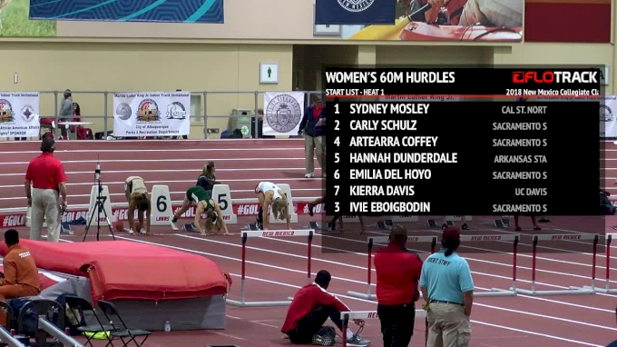 Women's 60m Hurdles, Heat 1