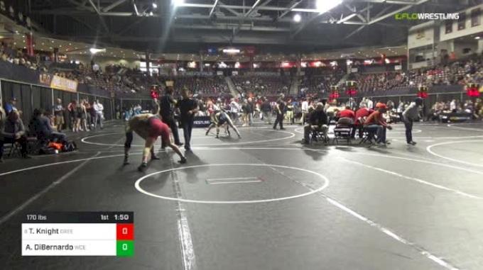 170 lbs Round Of 32 - Trent Knight, Greeneville High School vs Andrew DiBernardo, West Chester East