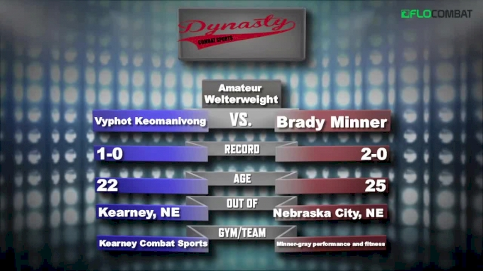 Brady Minner vs Vyphot Keomanivong - Dynasty Combat Sports New Years Knockouts Replay
