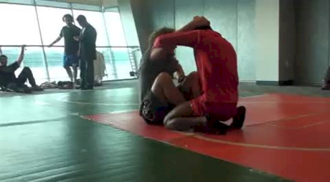 Askren And Coleman Warming Up With Some Jiu Jitsu