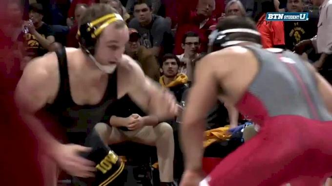 Alex Marinelli, Iowa vs Richie Lewis, Rutgers