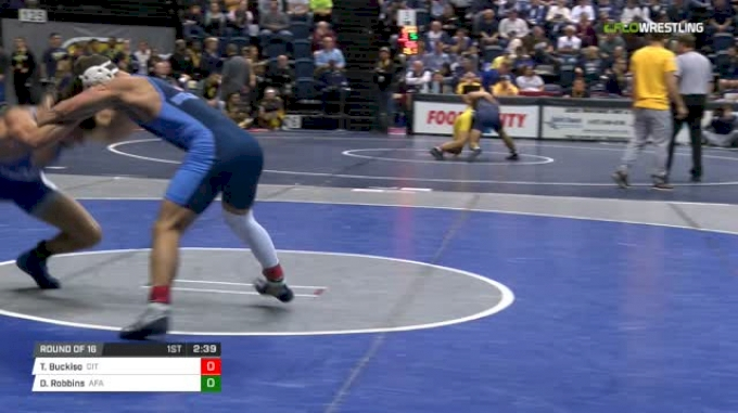 149 lbs Round of 16 - Ty Buckiso, Citadel vs Dane Robbins, Air Force