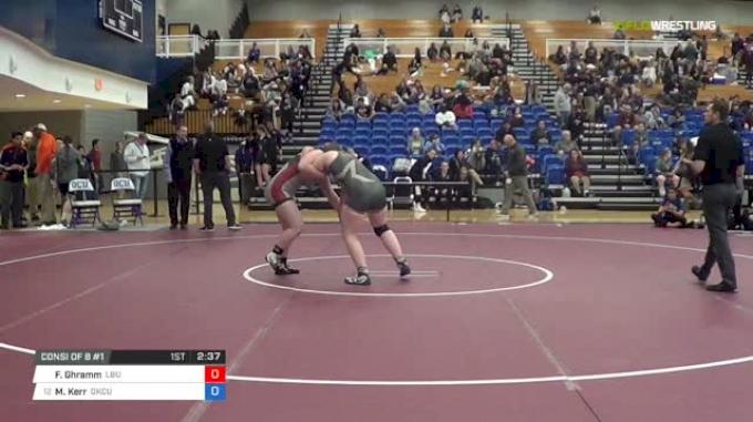 170 lbs Consi of 8 #1 - Faith Ghramm, Lindenwood Belleville University vs Mckyla Kerr, Oklahoma City University