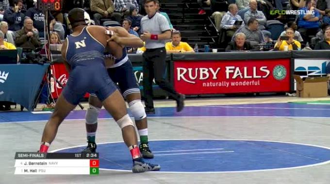 174 lbs Semifinal - Jadaen Bernstein, Navy vs Mark Hall, Penn State