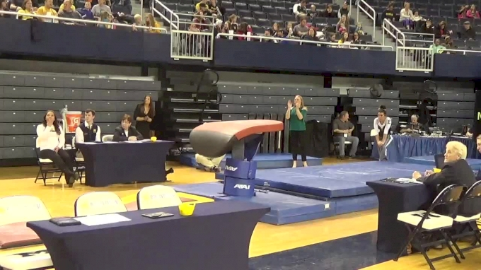 Allison Smith- Vault (9.575), EMU- 2017 Michigan vs. EMU Intersquad